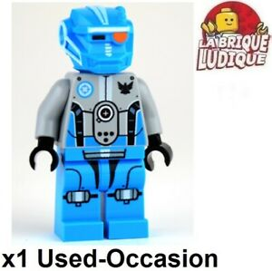Lego Figurine Minifig Space Galaxy Squad Dark Azure Robot Sidekick GS007 USED