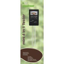 Luster Leaf Rapitest 1818 Mini 4-in-1 Soil Tester Sunlight Fertility Moisture pH
