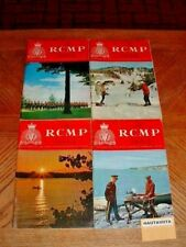 RCMP Quarterly Magazine 4x Vol32 1966 67 History Biographies Awards Nominal Roll
