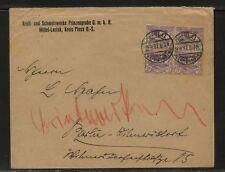Upper  Silesia    19  block   on  cover    1921     EX1105