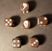 Zombicide Black Plague (6) Brown dice