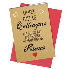 #701 BIRTHDAY FRIENDSHIP CARD Work Colleague Friends Thank you Greeting Card