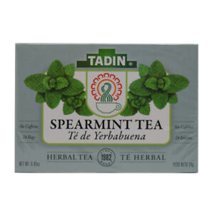 Tadin Spearmint/Yerbabuena Calming Tea. Natural Digestive and Cramp Aid. 24 Bags