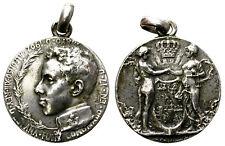MEDALLA CONMEMORATIVA CORONACION DE ALFONSO XIII 17/V/1902. PLATA. M. BENLLIURE