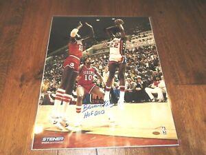 Bernard King Signed New Jersey Nets 16x20 Photo Autographed Steiner Sports COA