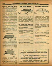 1926 PAPER AD Carter's Bestever Fishing Lure Heddon Baby Game Fisher Tad Polly