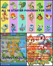 Pokemon X Y Omega Ruby Alpha Sapphire Shiny breeded W/ 6IV Starter Pack for 3DS