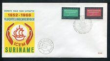 Suriname FDC E41 _ 1 M, code 1, blanco ;