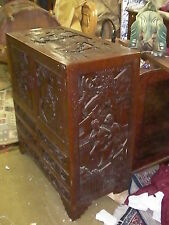 Old Chinese Style Carved Chest of Drawers