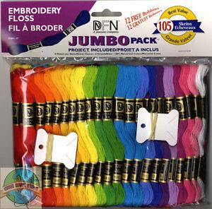 Janlynn ~ Jumbo 105 Skeins Embroidery Cross Stitch Floss Set #3001-37