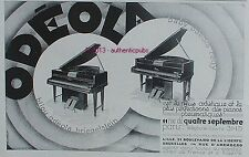 PUBLICITE ODEOLA PIANO A QUEUE BABY REGY BIJOU KRIEHETSLEIN DE 1929 FRENCH AD
