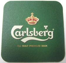 CARLSBERG ALL MALT PREMIUM BEER Coaster, Mat w/ Crown, Copenhagen, DENMARK