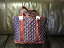 AUTH NEW MARC JACOBS QUILT SATIN PURPLE TOTEBAG