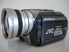 JVC Everio GZ - MG57 30GB CAMCORDER + TELEPHOTO LENS ATTACHMENT