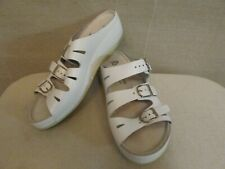 Berkemann White Leather Buckle Sandals Shoes US 6.5 UK 4 EU 37