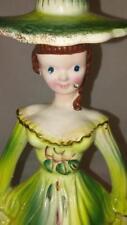 Mid Century Kreiss Porcelain Lady / Woman Figure Napkin Holder - Candle Holder