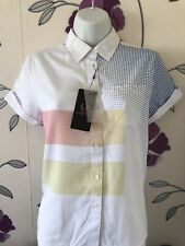 FRED PERRY AMY WINEHOUSE Bowling  Shirt  Blouse Size 8