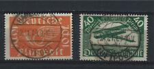 "Germany 1919, Sc # C1-C2, Airmail stamps, Full set, Used cancel ""HAMBURG 36"""