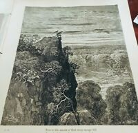 """Dore Engraving from 1866 Edition of Milton's """"Paradise Lost,""""  PG 88 Orginal prt"""