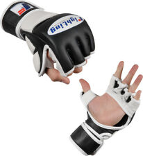 Fighting Sports MMA Grappling Training Gloves - Medium - Black/White