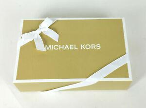 "Michael Kors Magnetic Gift Box Ribbon Tissue for Wallet / Bag 8-1/2""x5-1/2x2-1/4"