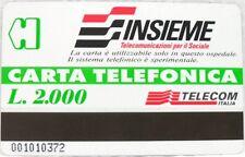 """SCHEDA/CARTA TELEFONICA SPECIALE-""""INSIEME Telecomunicazioni per il Sociale"""""""