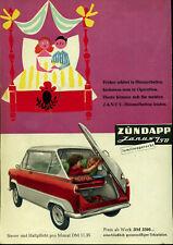 Zündapp - Janus 250 - Früher schlief in Himmelbetten  - Werbung von 1958 - Farbe