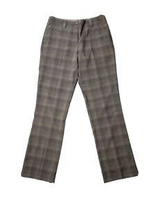 Nike Golf Dri-Fit Pants Plaid Gray Brown Stretch Women's Size 4