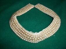 Atq/Vtg Authentic MILITARY COLLAR Faux Pearl Made in Japan - Worn in Philippines