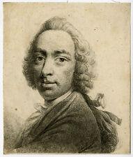 Antique Master Print-SELFPORTRAIT-BENJAMIN WILSON-Wilson-1752