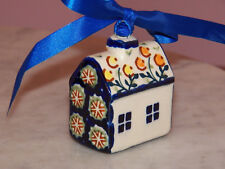 Polish Pottery House Ornament! UNIKAT Signature Lucy Pattern
