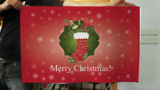 Bannière de fête rouge pour la maison Noël