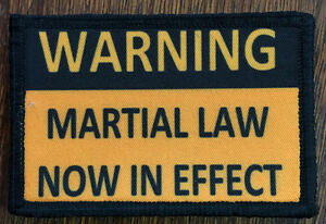 Martial Law Morale Patch Tactical Military Army USA Badge Hook Flag