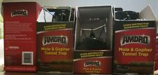 Lot Of 4 Amdro MOLE & GOPHER TUNNEL TRAP No Touch Disposal Chemical Free New