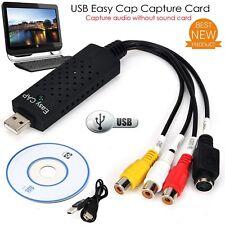 EasyCap USB2.0 Audio Video VHS to TV Tuner DVD Converter Capture Card Adapter