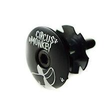 "Circus Monkey 1-1/8"" Bike Bicycle Cycling Top Cap Headset + Star Washer - Black"