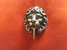ANTIQUE VICTORIAN/ EDWARDIAN  BRASS LION FACE DOOR KNOCKER.