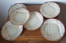 Lote de 6 platos llanos en cerámica de Gien, modelo Brigitte, hacia 1940