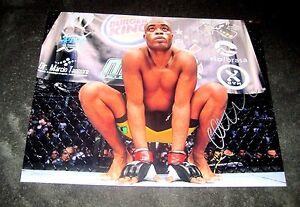 "ANDERSON ""SPIDER"" SILVA UFC MMA AUTOGRAPHED SIGNED 11X14 PHOTO #1 W/COA"
