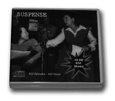 SUSPENSE OLD TIME RADIO - 12 CD - 910 mp3