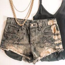 Custom Bleached & Distressed Denim Shorts