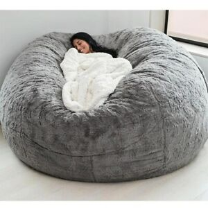 NEW COVER Giant Bean Chair Microsuede 7ft Foam Bag Memory Living Room Lazy Sofa