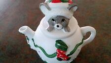 Christmas teapot collectible Christmas mouse