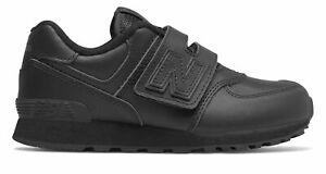 New Balance Kid's 574 Hook and Loop Big Kids Female Shoes Black