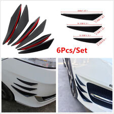 6Pcs Universal Car Front Bumper Lip Splitter Fins Body Spoiler Canards Refit Kit