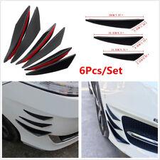 6Pcs Universal Car Front Bumper Lip Splitter Fins Body Spoiler Canards Refit Kit