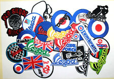 Wholesale lot 25 Motorcycles Biker Vespa Scooter Racing  Embroidery Iron Patch