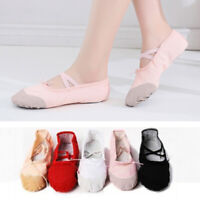 Girl Adult Soft Canvas Ballet Dance Shoes Slippers Pointe Dance Gymnastics Charm