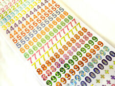 Small Coloured Sticky Adhesive Numbers 0-9, Labels Stickers for Craft WD-36