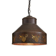 Park Design Hanging Rustic Primitive Country Adirondack Pendant Light  Pinecone